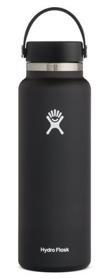 Hydro Flask 40 oz. Wide Mouth With Flex Cap Black 2.0