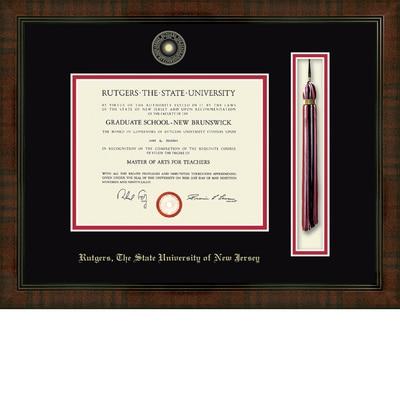 """Church Hill Classics 8.5"""" x 11"""" Tassel Walnut Diploma Frame"""