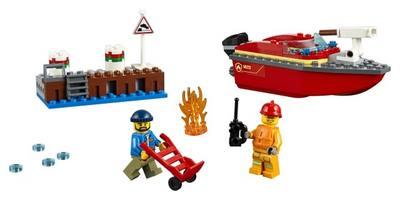 LEGO City Fire Dock Side Fire 60213