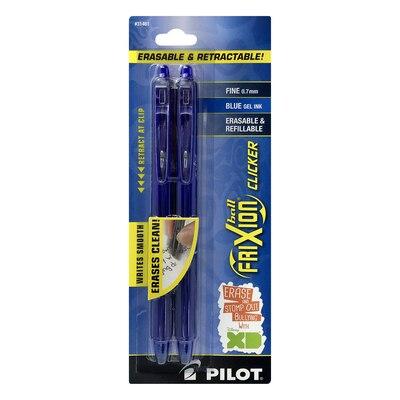 Pilot FriXion Clicker Erasable Gel Ink Pen Fine Point (0.7mm) Blue 2 Count