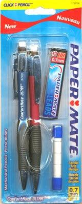Paper Mate ComfortMate Ultra Mechanical Pencils Medium 0.7mm 2Pack