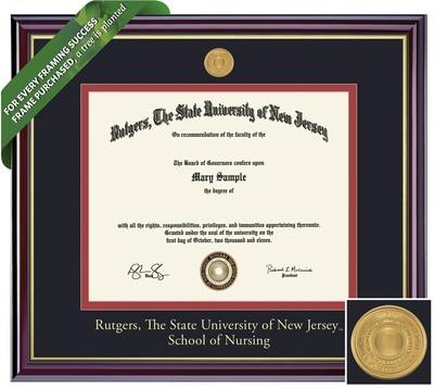 Framing Success 8.5 x 11 Windsor Gold Medallion Bachelor of Nursing Diploma Frame