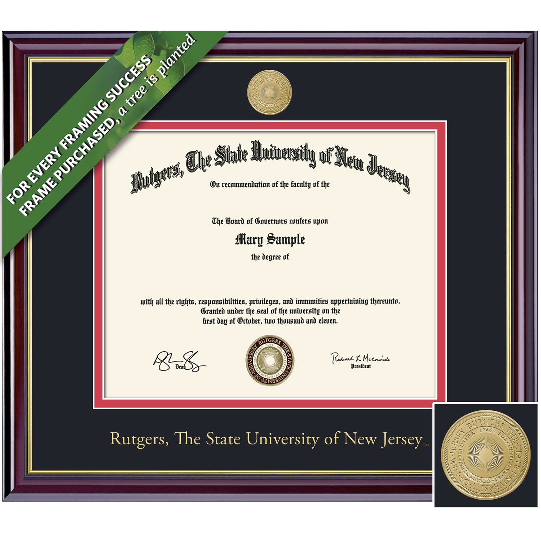 Framing Success 8.5 x 11 Windsor Gold Medallion Bachelors, Masters Diploma Frame