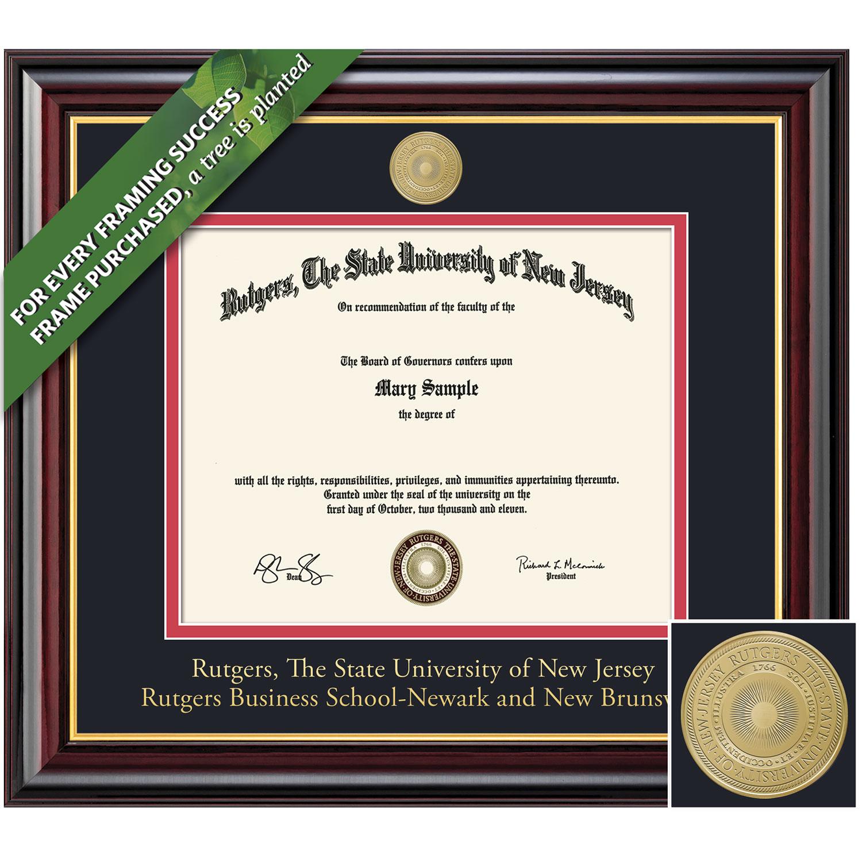 Framing Success 8.5 x 11 Windsor Gold Medallion Business Diploma Frame