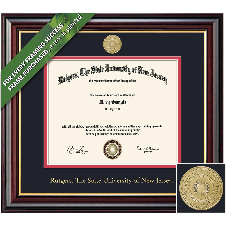 Framing Success 11 x 14 Windsor Gold Medallion Upgrade Bachelors, Masters Diploma Frame