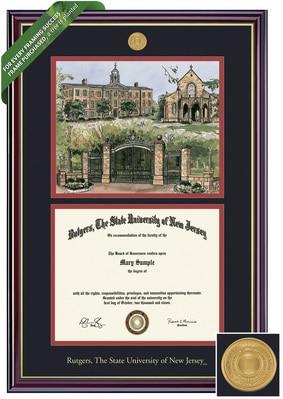 Framing Success 8.5 x 11 Windsor Gold Medallion Bachelors, Masters Diploma/Litho Frame