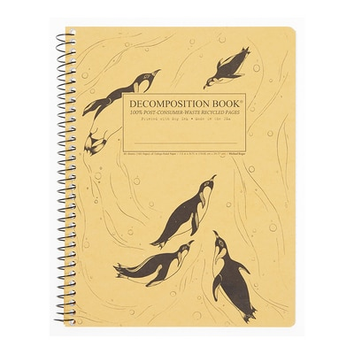 King Penguins Decomposition Notebook Coil 80ct