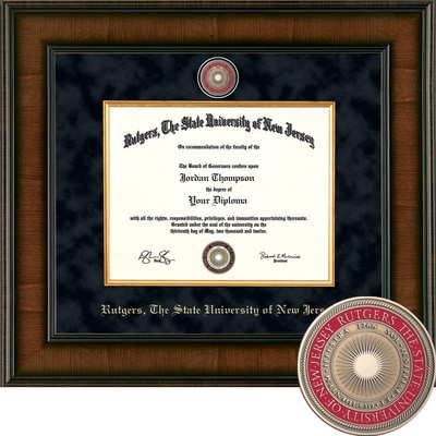 "Church Hill Classics 8.5"" x 11"" Presidential Walnut Diploma Frame"