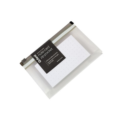 Oxford At Hand Note Card Zip Pocket Gray 50 3 x 5 Dot Grid Cards