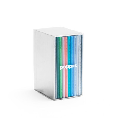 Poppin Mini Medley Assorted Pastels Soft Cover Notebooks Set Of 10