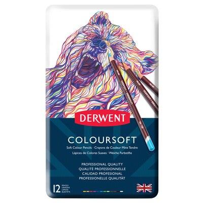 Derwent Coloursoft Pencil Set, 12-Pencil Tin Set