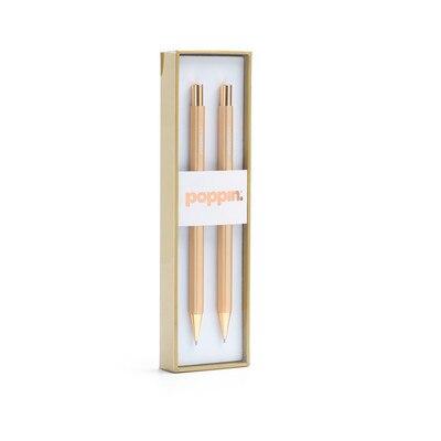Poppin Gold Mechanical Pencils Set of 2