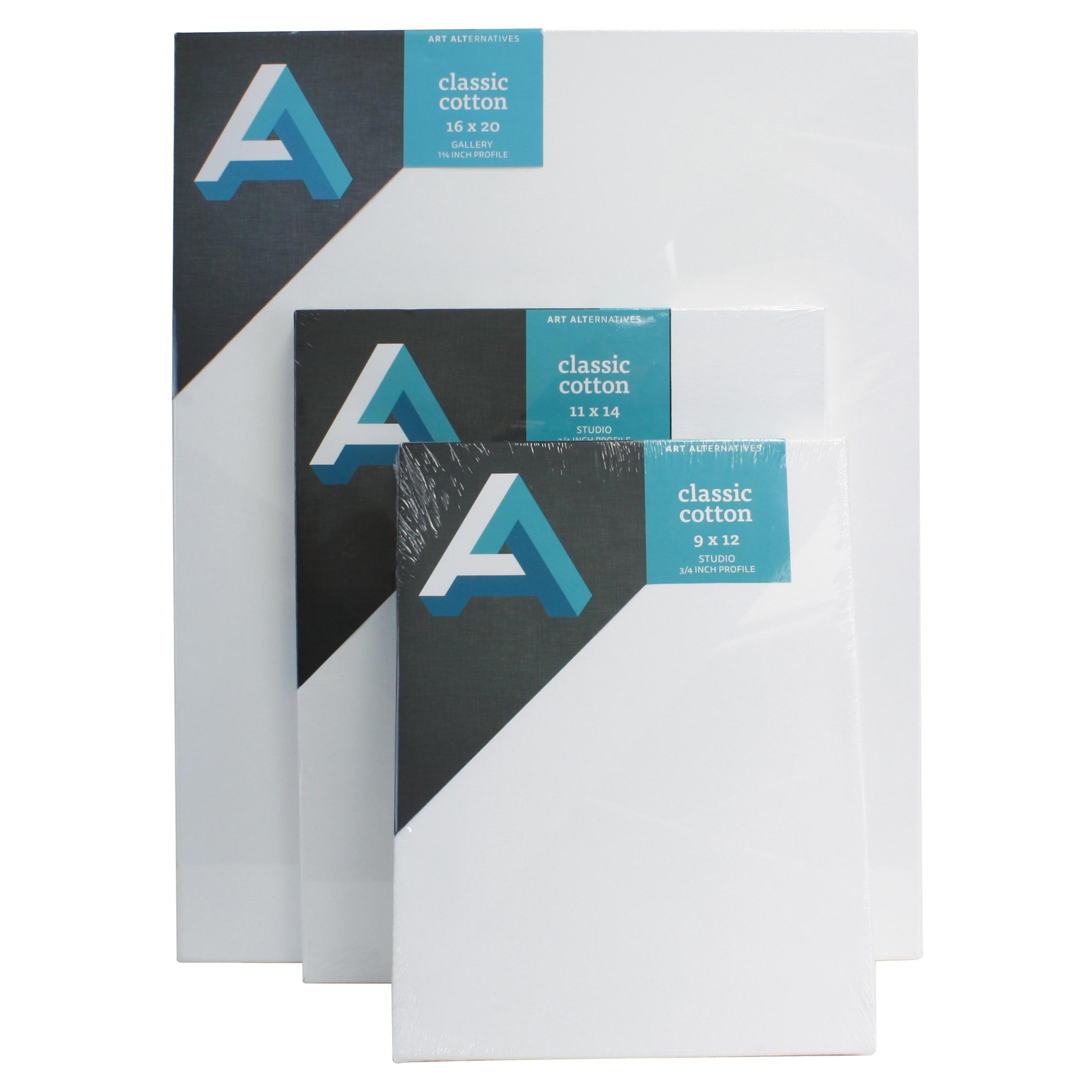 "Art Alternatives Classic Cotton Stretched Canvas, Studio, .75"" Profile, 9"" x 12"""