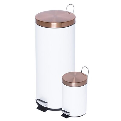 30L and 3L Trash Can Combo in Rose Gold