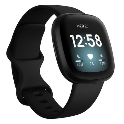FitBit Versa 3 Health and Fitness Smart Watch in Black