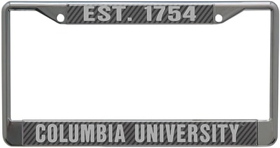 Columbia University Aryclic Carbon License Plate Frame