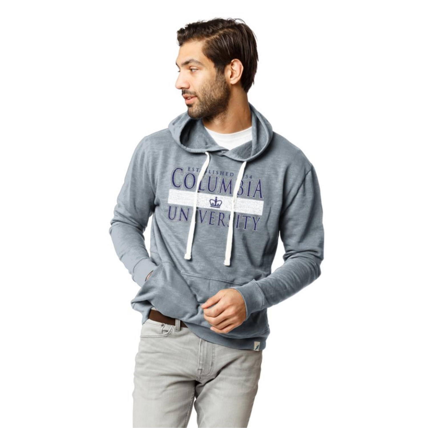 Columbia University League Weathered Terry Pullover Hoodie