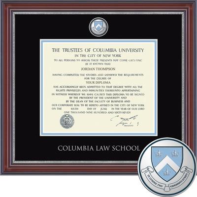 "Church Hill Classics 14"" x 17"" Masterpiece Cherry Columbia Law School Diploma Frame"