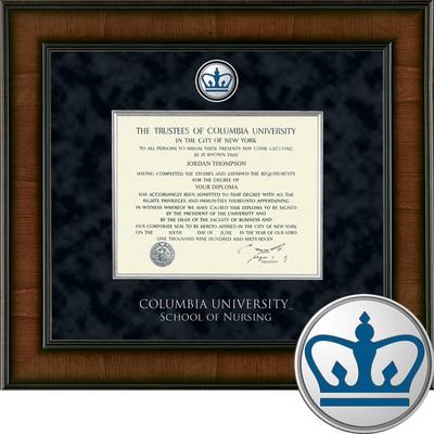 "Church Hill Classics 10.5"" x 12.5"" Presidential Walnut School of Nursing Diploma Frame"