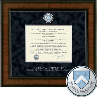 """Church Hill Classics 10.5"""" x 12.5"""" Presidential Walnut School of Engineering And Applied Science Diploma Frame"""