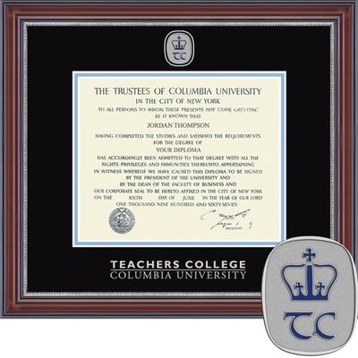 "Church Hill Classics 10.5"" x 12.5"" Masterpiece Cherry Teachers College Diploma Frame"