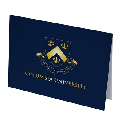 Columbia University Set of 10 Foil Stamped Note Cards