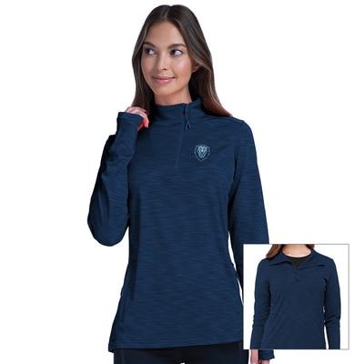 Columbia University Women's Insignia Wave Quarter Zip Sweatshirt