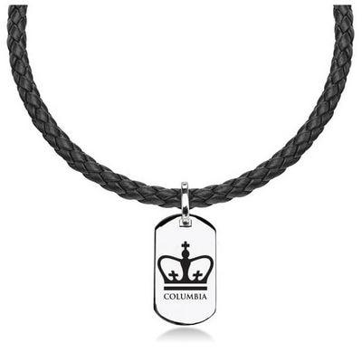 Columbia University Leather Necklace Dog