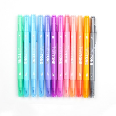 Twintone Marker Pastel 12CD