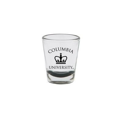 Columbia University 1.5 oz Colored Bottom Shot Glass