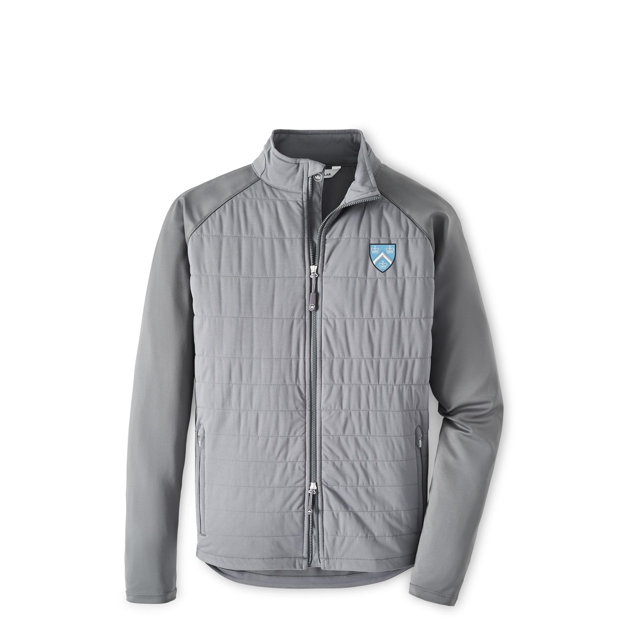 Columbia University Peter Millar Men's Merge Stretch Full Zip Hybrid Jacket