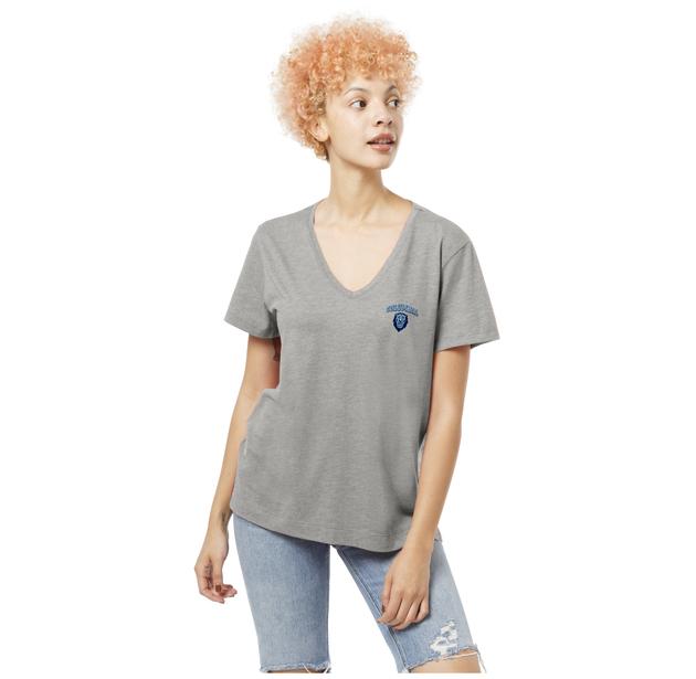 Columbia University Short Sleeve V Neck T Shirt