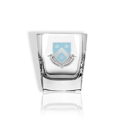 Columbia University Square Rocks Glass