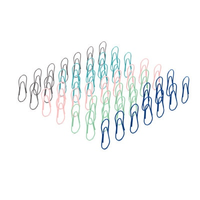 Poppin Modern Assorted Paper Clips Set of 50