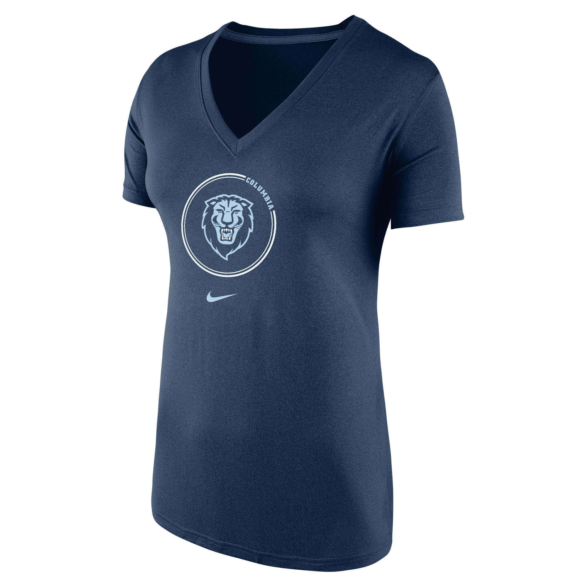 Nike Women's Dri Fit Short Sleeve V Neck T Shirt
