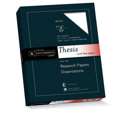 Thesis Paper White 100% Cotton 20# 250 Sheet