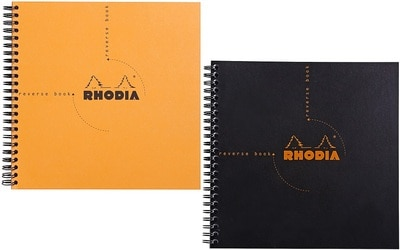 Versatile Wirebound Rhodia Reverse Book.