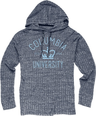 Columbia University Ribbed Hacci Pullover Hoodie