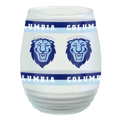 Columbia University 17oz Frosted Stemless Wine Glass