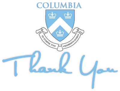 Columbia University Thank You Card Packs with 10 Cards and Envelopes