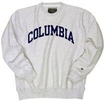 Columbia University Champion Reverse Weave Crew