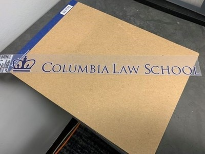 Columbia University Static Cling  Removable Decal