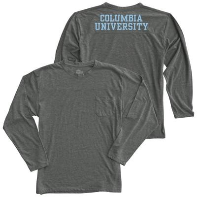 Columbia University Alta Gracia Eco Long Sleeve Pocket T-Shirt