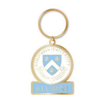 Columbia University Brass Key Tag