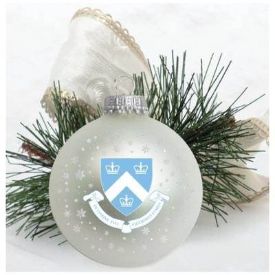 Columbia University Matte Glass Bulb Ornament