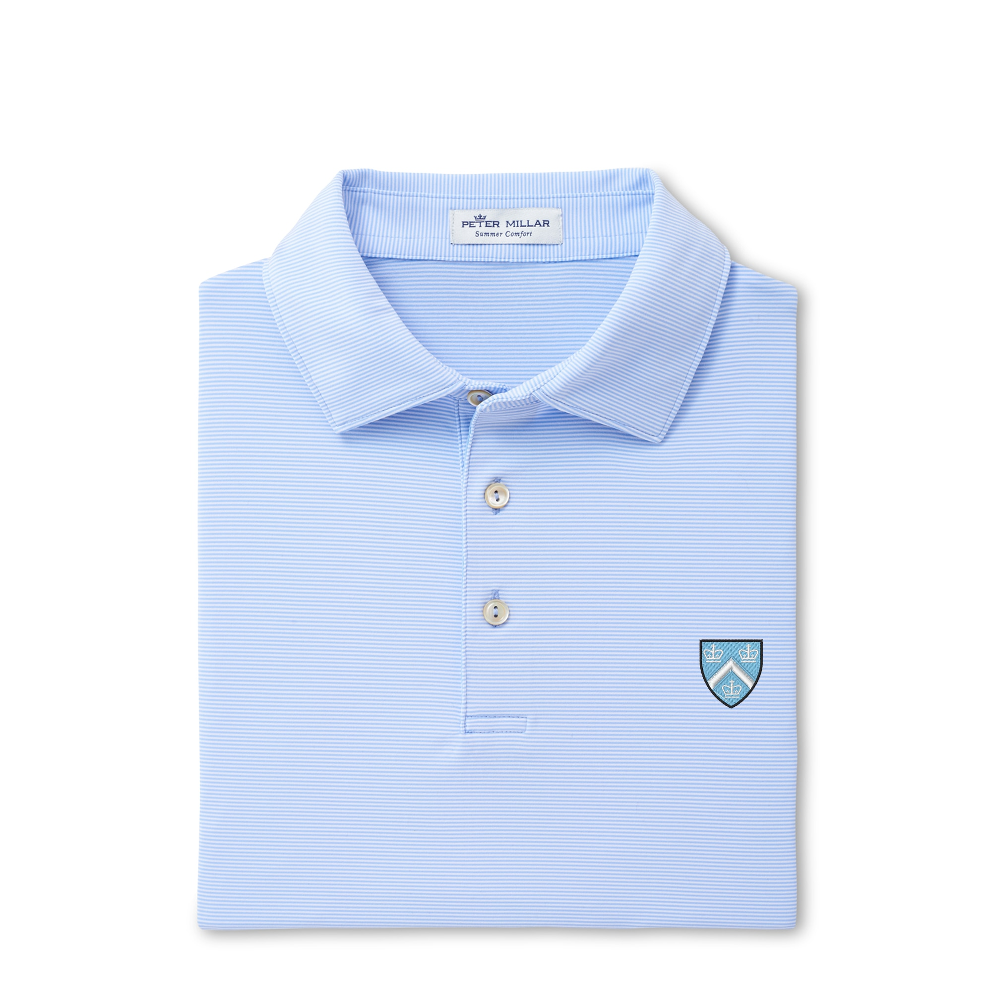 Peter Millar College Stripe Stretch Jersey Polo