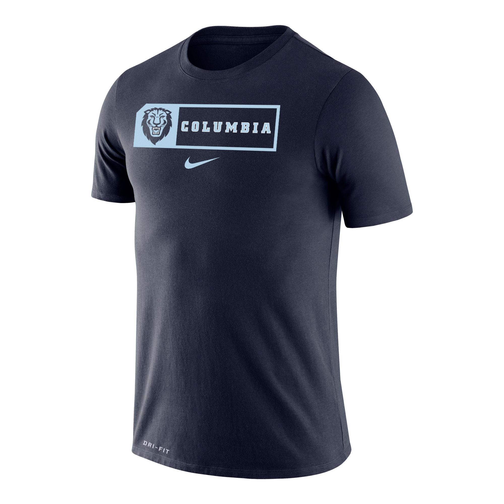 Columbia University Nike DRI-FIT Legend Short Sleeve T-Shirt