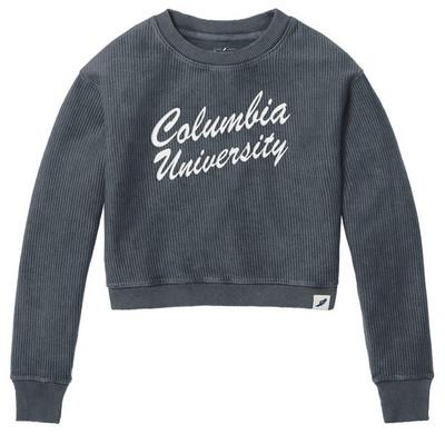 League Womens Cropped Cord Crewneck Sweatshirt