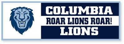 Columbia University Felt Banner - Horizontal - Flock Plus