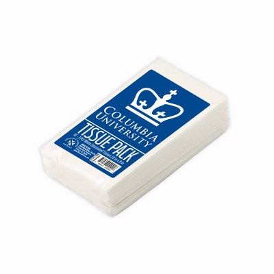 Columbia University 10 pack White 3 Ply Unscented Tissues